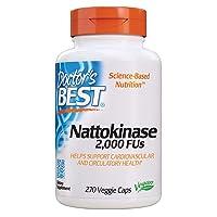 Doctor's Best Nattokinase, Non-GMO, Vegan, Gluten Free, 270 Veggie Caps