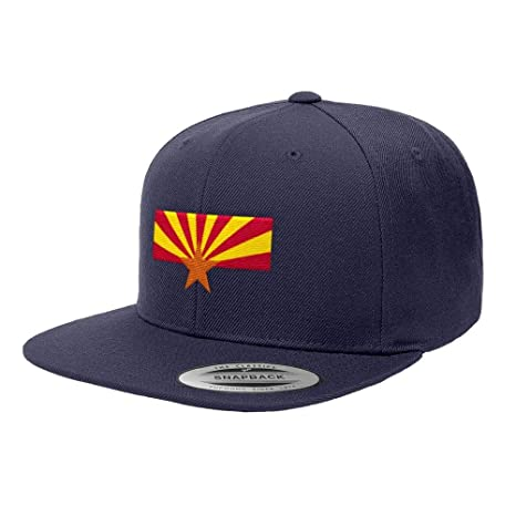 Amazon.com  Chicago Flag Hats Arizona State Flag Premium Classic Snapback  Hat 6089M - Navy Blue  Sports   Outdoors 35449e029df