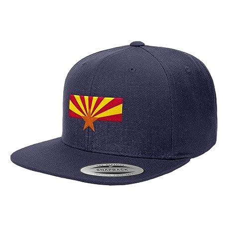 Amazon.com  Chicago Flag Hats Arizona State Flag Premium Classic Snapback  Hat 6089M - Navy Blue  Sports   Outdoors b816f86bb6e