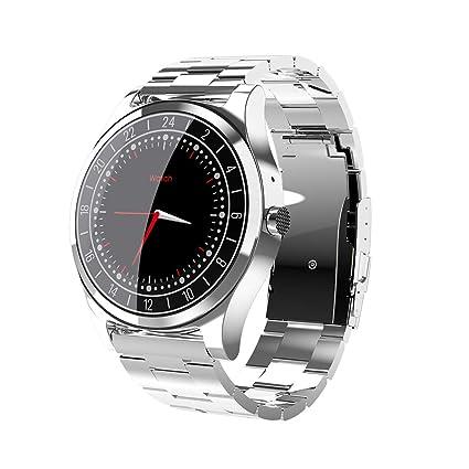 Amazon.com: Smart Watch DT19 Bluetooth Men Metal Wristwatch ...