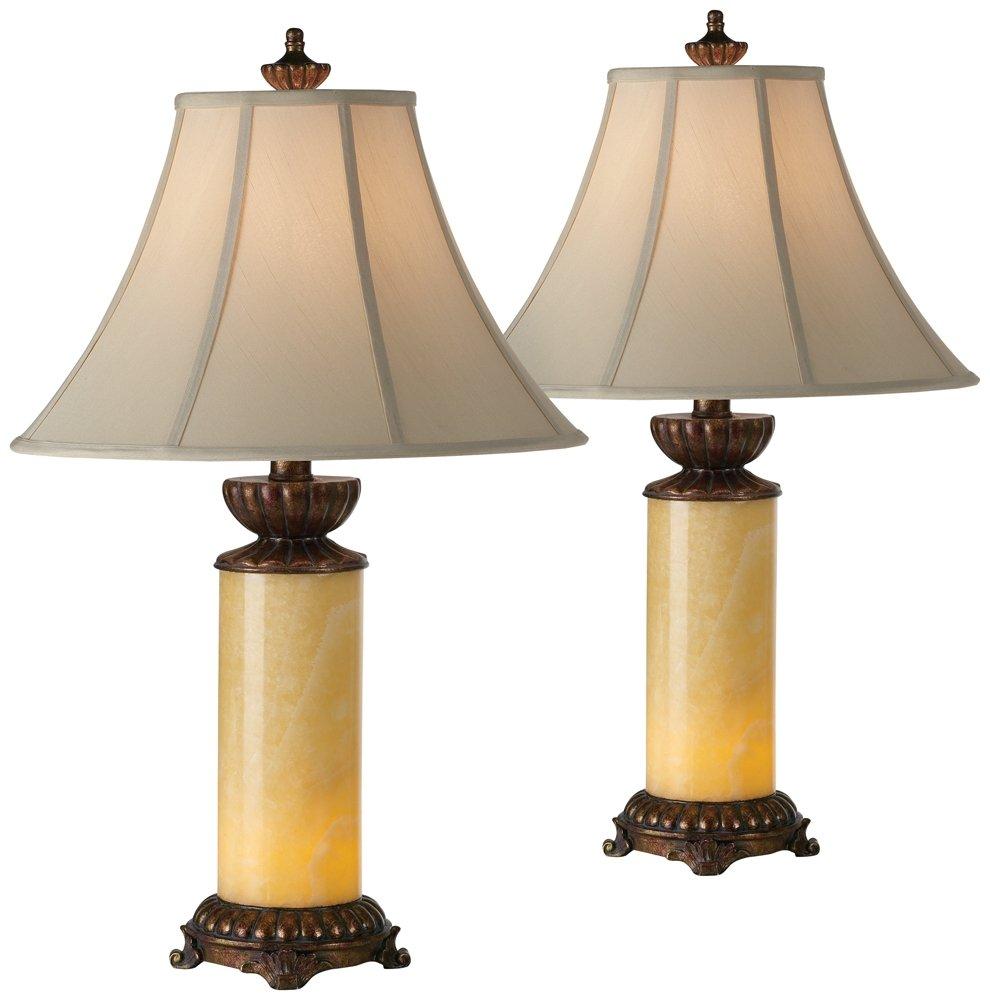 Onyx Stone Night Light Table Lamp Set of 2