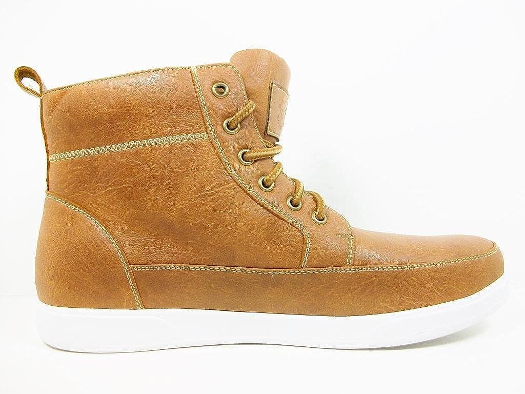 Polar Fox Mens 55009-Brown High Top Fashion Sneakers
