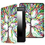 Fintie Case for Kindle Paperwhite - The Thinnest and Lightest PU Leather Cover with Auto Sleep/Wake for All-New Amazon Kindle Paperwhite (Fits All 2012, 2013, 2015 and 2016 Versions), Love Tree