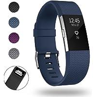 super vaule Per Fitbit Charge2 cinturini Strap, carica 2 bande Regolabile ricambio Sport Wristband accessorio per Fitbit Charge 2 Small