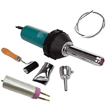 1080W plástico calor aire caliente soldador plástico soldadura pistola kit antorcha PE PVC pistola vinilo portátil secado sellado con boquillas de ...