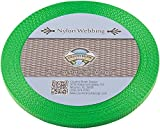 Country Brook Design 3/8 Inch Hot Lime Green Heavy Nylon Webbing, 10 Yards