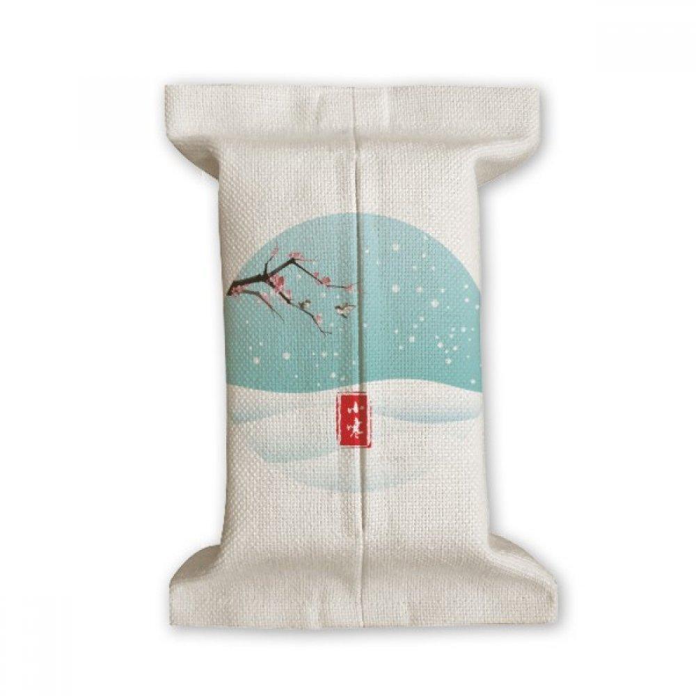 DIYthinker Circular Slight Cold Twenty Four Solar Term Tissue Paper Cover Cotton Linen Holder Storage Container Gift