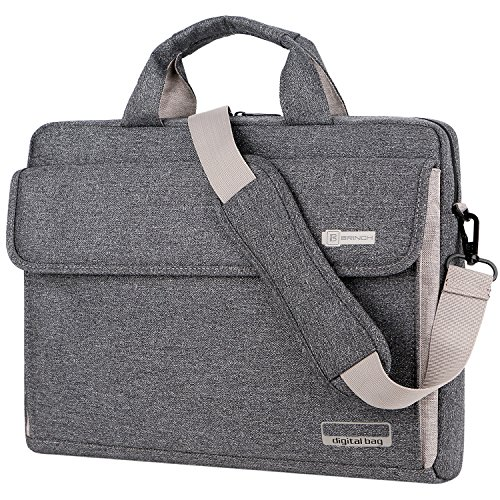 Laptop Shoulder Bag 15.6 Inch,BRINCH Business Laptop Messenger Bag Work Briefcase Sleeve Case Crossbody Bag for Men / Women fits 15 – 15.6 Inch Laptop / Ultrabook / Chromebook Computers,Dark Grey