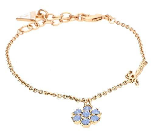 Guess Damen-Armband California Sunlight mit Anhänger Edelstahl  teilvergoldet Kristall blau 19 cm-UBB61070-S  Amazon.de  Schmuck fc1e5a93a9