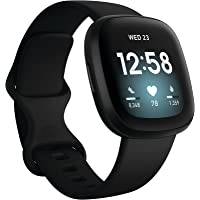 $198 » Fitbit Versa 3 Health & Fitness Smartwatch with GPS, 24/7 Heart Rate, Alexa Built-in, 6+…