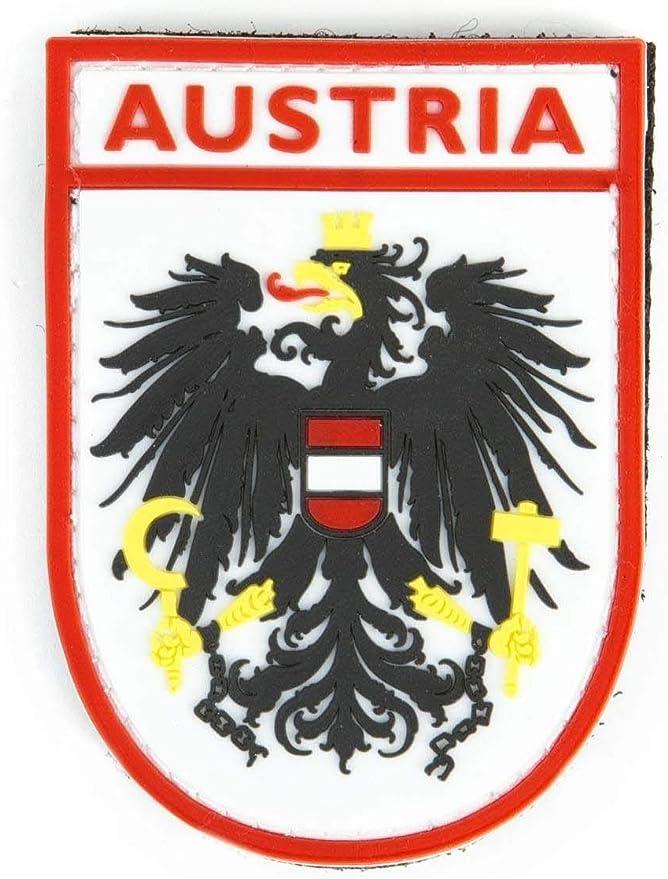Steinadler Pvc Nationalitätsabzeichen Austria Bundesheer Ärmelabzeichen Armee Patch Aus Pvc Original Rot Weiß Küche Haushalt