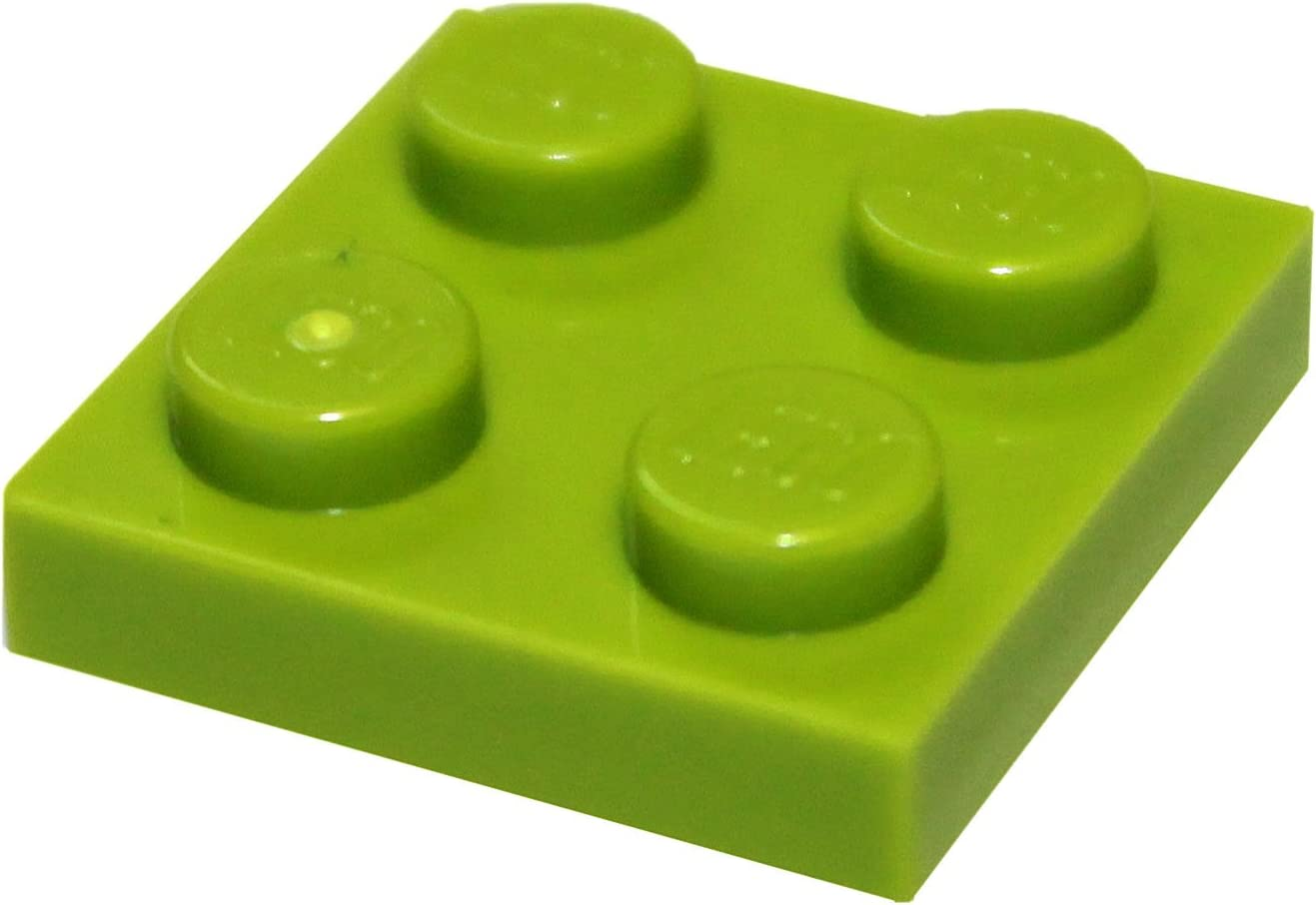 LEGO Parts and Pieces: Lime (Bright Yellowish Green) 2x2 Plate x100