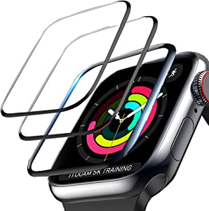 3-Pack Screen Protector for Apple Watch Series 3/2/1 42mm, 3D Curved Edge Anti-Scratch Anti-Bubble Ultra HD Flexible Film Protector with Black Edge for iWatch Series 3/2/1 (42MM)