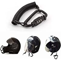 Candado para casco de motocicleta, combinación de pines, cierre de mosquetón, seguro para motocicletas con cable de 1,8…