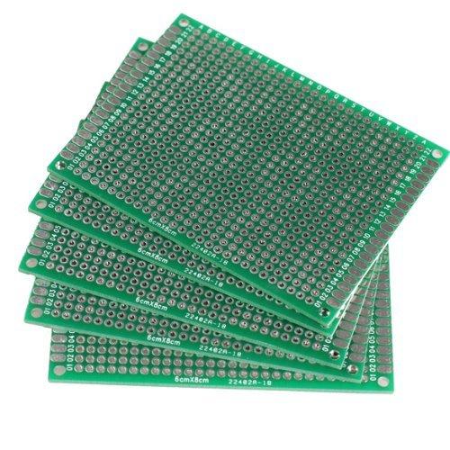 Kalevel® 5pcs FR-4 Glass Fiber Double Sided Prototype Pcb Universal Printed Circuit Board (4*6cm)