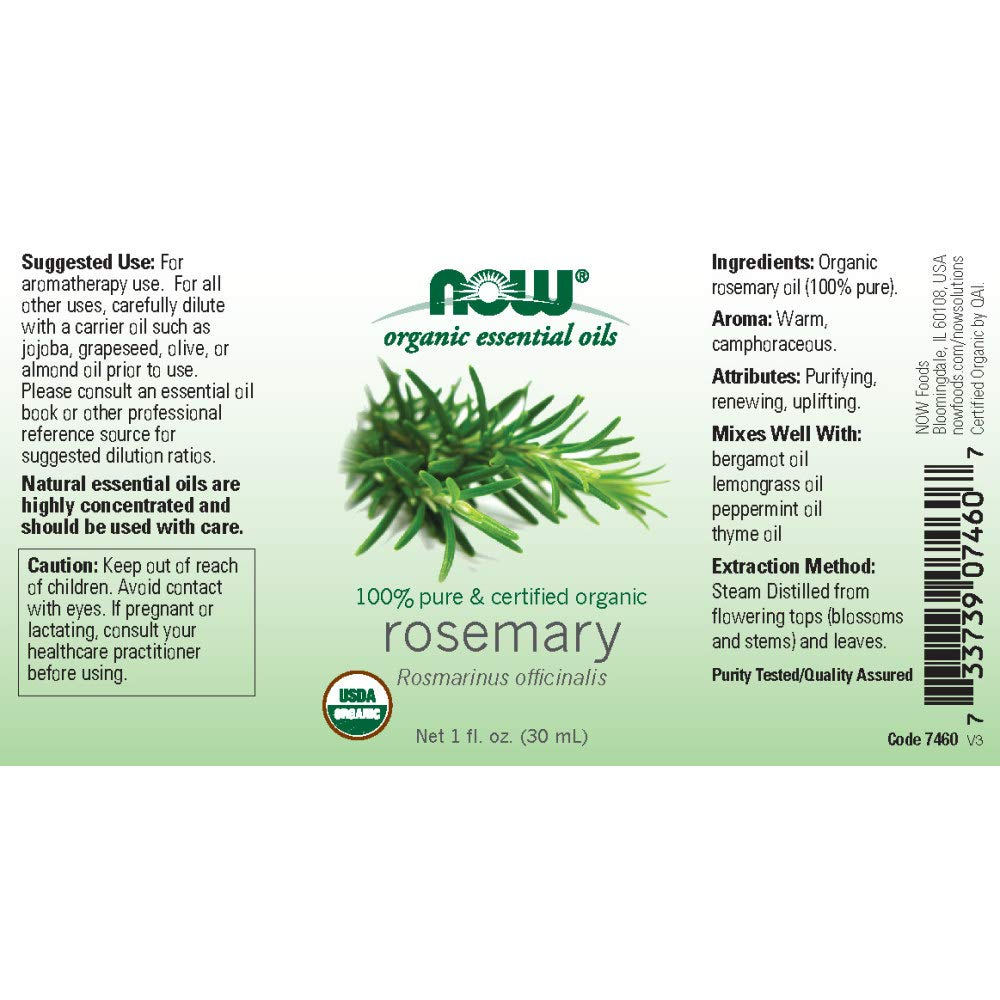 Aceites esenciales, romero, 1 oz fl (30 ml) - Now Foods: Amazon.es: Salud y cuidado personal