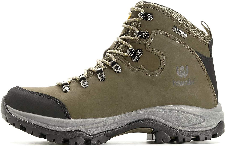US Men/'s Waterproof Construction Hiking Boots Mid Outdoor Trekking Trails Shoes
