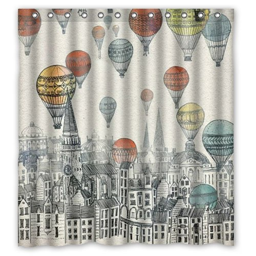 - Shower Curtain Hot Sale Hot Air Balloon Waterproof Fabric Bathroom 66(w) x72(h) Inch
