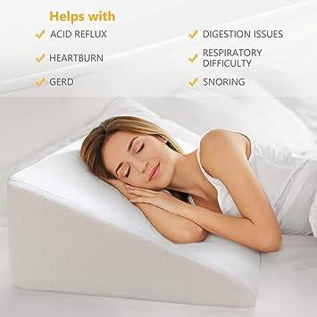 Amazon.com: OasisSpace - Almohada de cuña para cama ...
