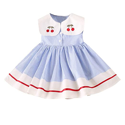 caff90cae Amazon.com  Kids Princess Dresses Baby Girls Party Clothes Floral ...