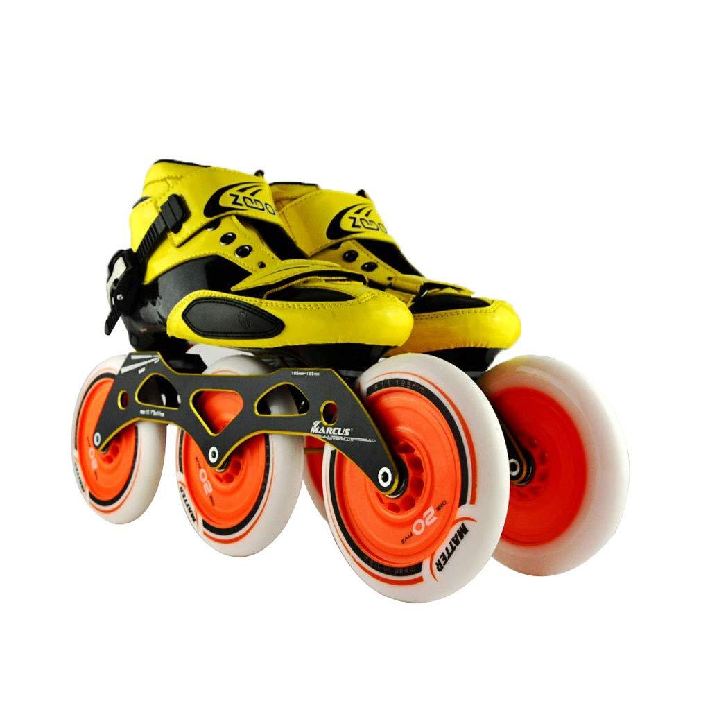 ailj スピードスケート靴3 * 125MM調整可能なインラインスケート、ストレートスケート靴(4色) (色 : イエロー いえろ゜, サイズ さいず : EU 42/US 9/UK 8/JP 26cm) B07HVWC26J EU 40/US 7.5/UK 6.5/JP 25cm Orange Orange EU 40/US 7.5/UK 6.5/JP 25cm