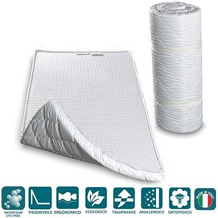 Evergreenweb - Colchón Topper Enrollable - Soporte ergonómico – Esterilla - excelente colchón de pie para Ejercicios del Suelo, Camping, Yoga, ...