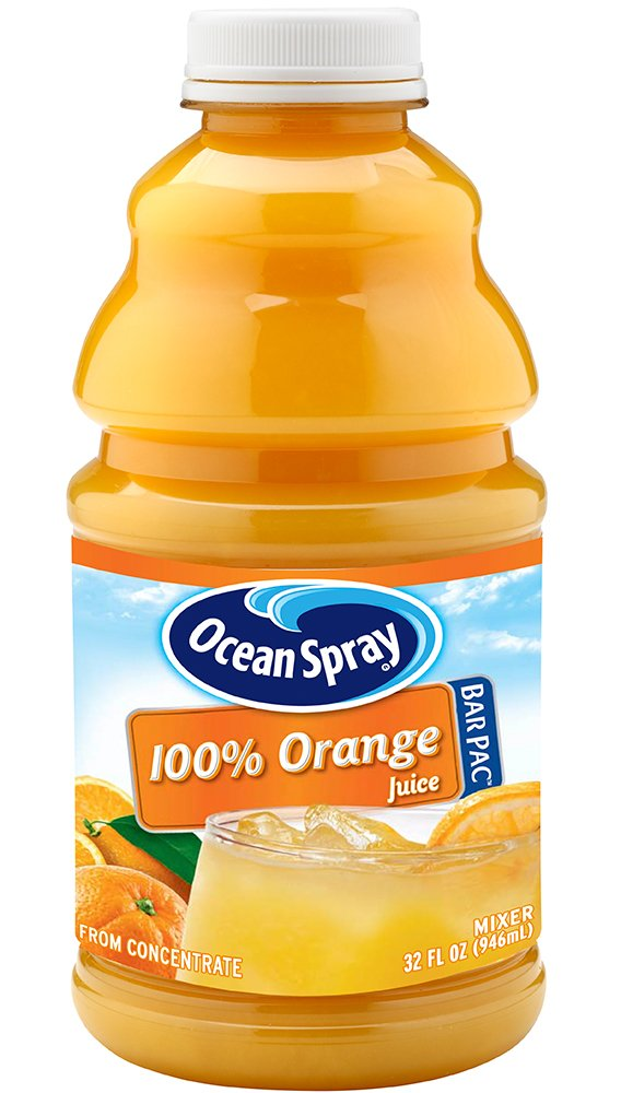 Ocean spray orange juice bottle