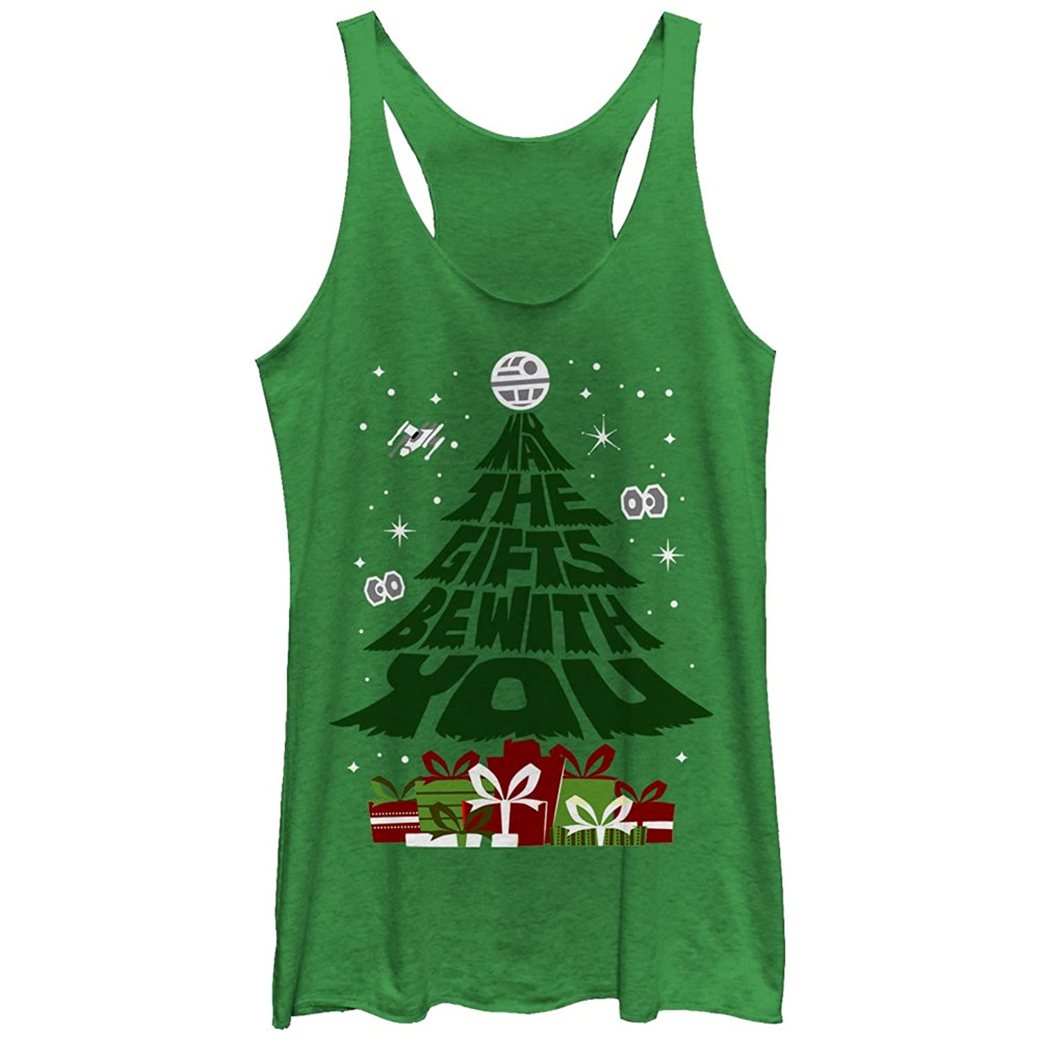 Star Wars Christmas Gifts Be With You Womens Graphic Racerback Tank