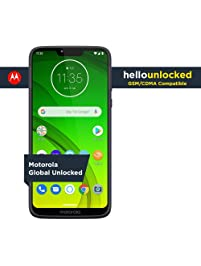 Moto G7 Power with Alexa Push-to-Talk – Unlocked – 32 GB – Marine Blue – Verizon, AT&T, T–Mobile, Sprint, Boost, Cricket...
