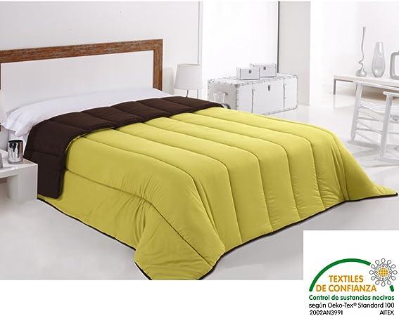 bonitex - Couette 240 X 270 Cm Vert pistache et marron ...