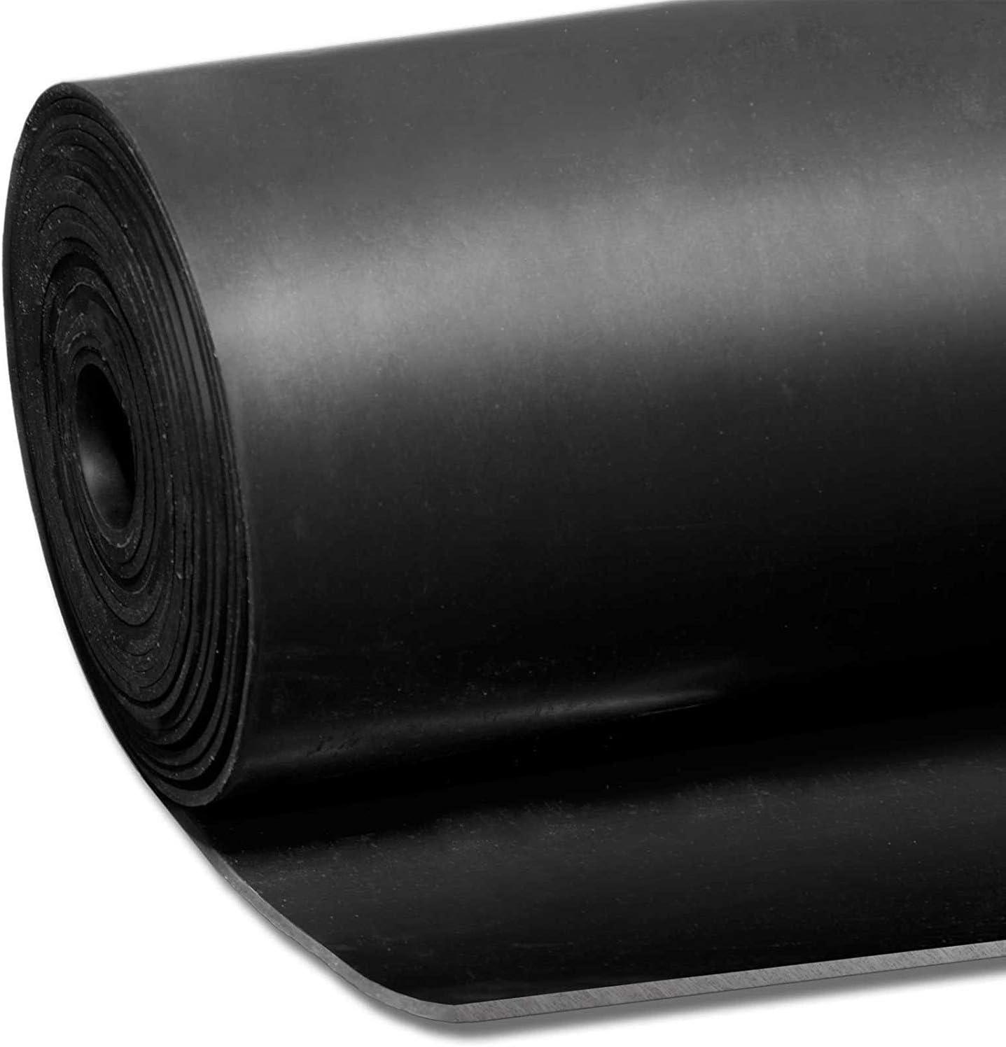 9 Epaisseurs au m/ètre Epaisseur 1mm 120x100 cm Garage Palette Feuille de Caoutchouc NR//SBR Plaque en Caoutchouc pour Projet Bricolage Rouleau Caoutchouc Antid/érapant