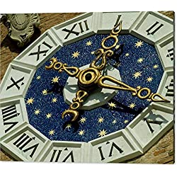 Clock On The Facade Of The Entrance by National Geographic, Canvas Print Wall Art, 48 x 36, Mirrored Gallery Wrap, Glossy Finish
