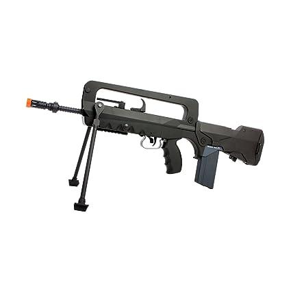 amazon com : famas machine aeg, black airsoft gun : airsoft rifles : sports  & outdoors