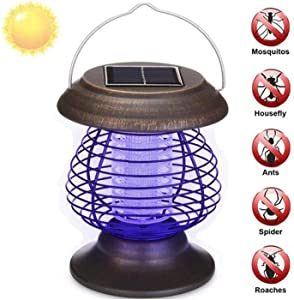 ZHUAN Solar Mosquito Killer Lamp, Portable Portable Outdoor Waterproof Garden Lamp Landscape Lamp Mosquito Killer Lamp