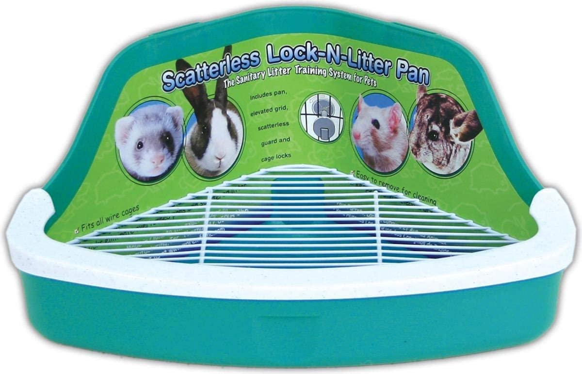 Ware Manufacturing Plastic Scatterless Lock-N-Litter Small Pet Pan, Pack of 2 (Colors May Vary)