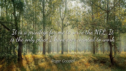 Home Comforts Roger Goodell - Famous Quotes Laminated POSTER PRINT 24x20 - It is a privilege for me to serve the NFL. It is the only place I have ever wanted to work.