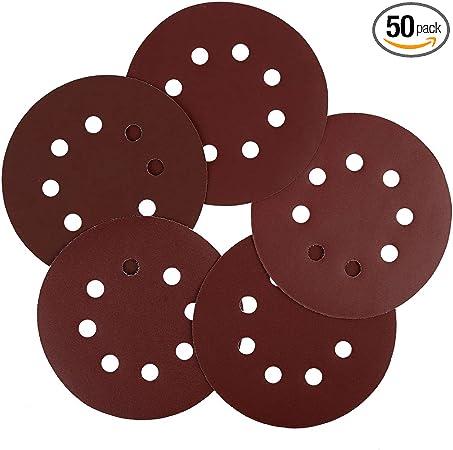50pcs//Set 5 Replacement Grit 800 ~3000 Sanding Discs Sandpaper Hook Loop