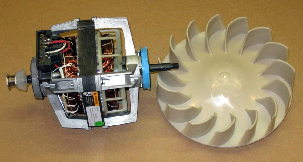 Major Appliances COMBO2 Dryer Motor 279827 Blower Wheel 694089 for Whirlpool Kenmore Roper Estate