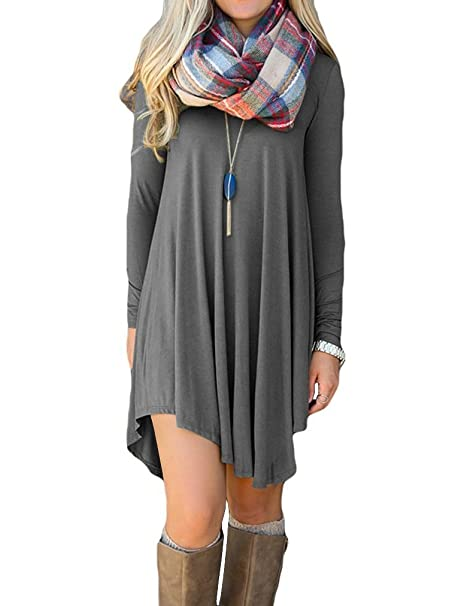 dac4c2e930 Image Unavailable. Image not available for. Color  Women s Short Sleeve  Casual Loose T-Shirt Dress(Army ...