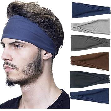 Women Men/'s Hairband Sports Turban Headband Quick-drying Wide Jogging Headband