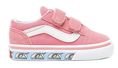 1e7d2d0e636 VANS - Old Skool V - (Unicorn) Strawberry Pink Infants Shoes (8 UK ...