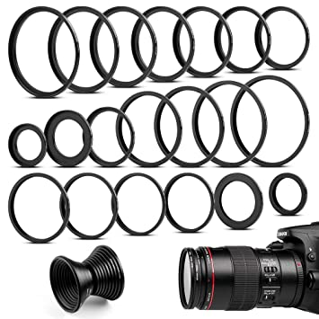 Fotover 20 Pieces Metal Step-Up Adapter Rings &Set Down: Amazon co