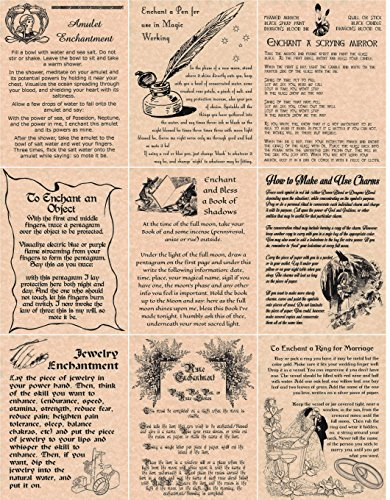 set-of-9-enchantments-book-of-shadows-spells-pages-wicca-witchcraft-like-charmed-copper