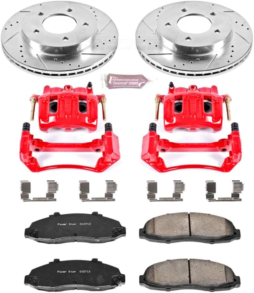 Power Stop KC1866 1-Click Performance Brake Kit with Caliper Front Only