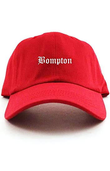 8e2b43828d6 Image Unavailable. Image not available for. Color  Bompton Unstructured  Baseball Dad Hat Cap - Red