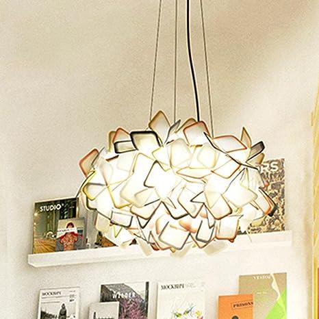 Mode clásico Fácil acrílico colgante LED de iluminación de ...