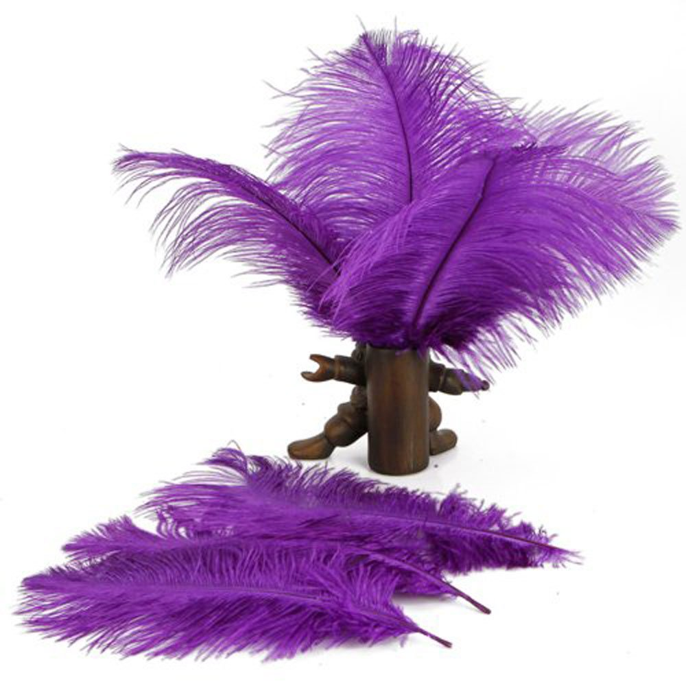 amazon com leegoal home decor purple ostrich feathers 10 15cm