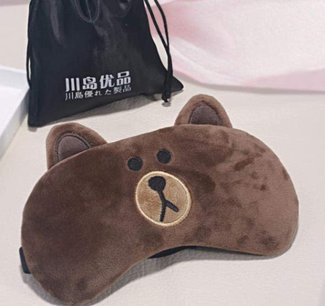 Little Bear Masque de sommeil doux et Respirant Occultant masques de nuit pour les femmes et hommes id/éal pour les voyages//sieste//sommeil nocturne -Marron masque pour les yeux