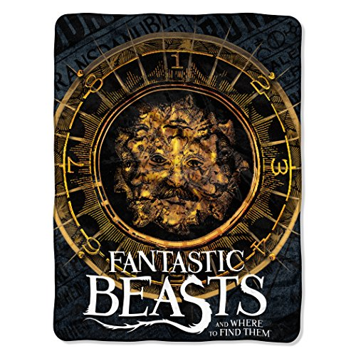 The Northwest Company Fantastic Beasts, Many Faces Micro Raschel Throw, 46