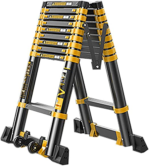 ZAQI Escalera Extensible Escalera telescópica Escalera Telescópica ...